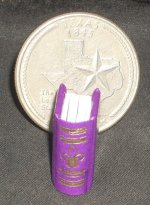 Book Gold on Purple Embossed #P1006PU Dollhouse Miniature Books