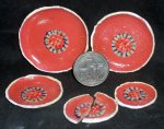 Stacking Plate Platter Set 9327 Pink Ivory Mexican Miniature