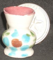 Folk Art Vase Mexican TC405-2A 1:12 Doll Miniature Flowers