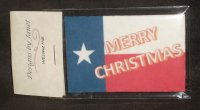 Welcome Mat Merry Christmas Texas Flag 1:12 Miniature Porch