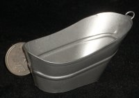 Cowboy Bath Tub #IM65388 1:12 Miniature Furniture Galvanized