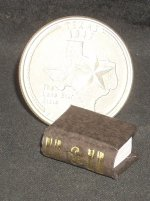 Book Gold on Brown Embossed #P1006BR Dollhouse Miniature Books