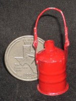 Kerosene Red Old Style Gas Can #TP1167 1:12 Miniature Mexican
