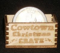 Cowtown Christmas Crate 1:12 Dollhouse Miniature Candy Presents