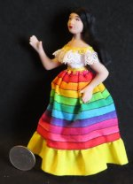Doll - Woman Hispanic Mexican 1:12 Miniature #9418 Patsy Thomas