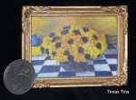 Blue & Yellow 1:12 Miniature Ltd. ed. Print Floral Painting