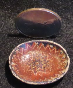 Decorative Bowl Aged Mexican Style 1:12 Miniature RB9003