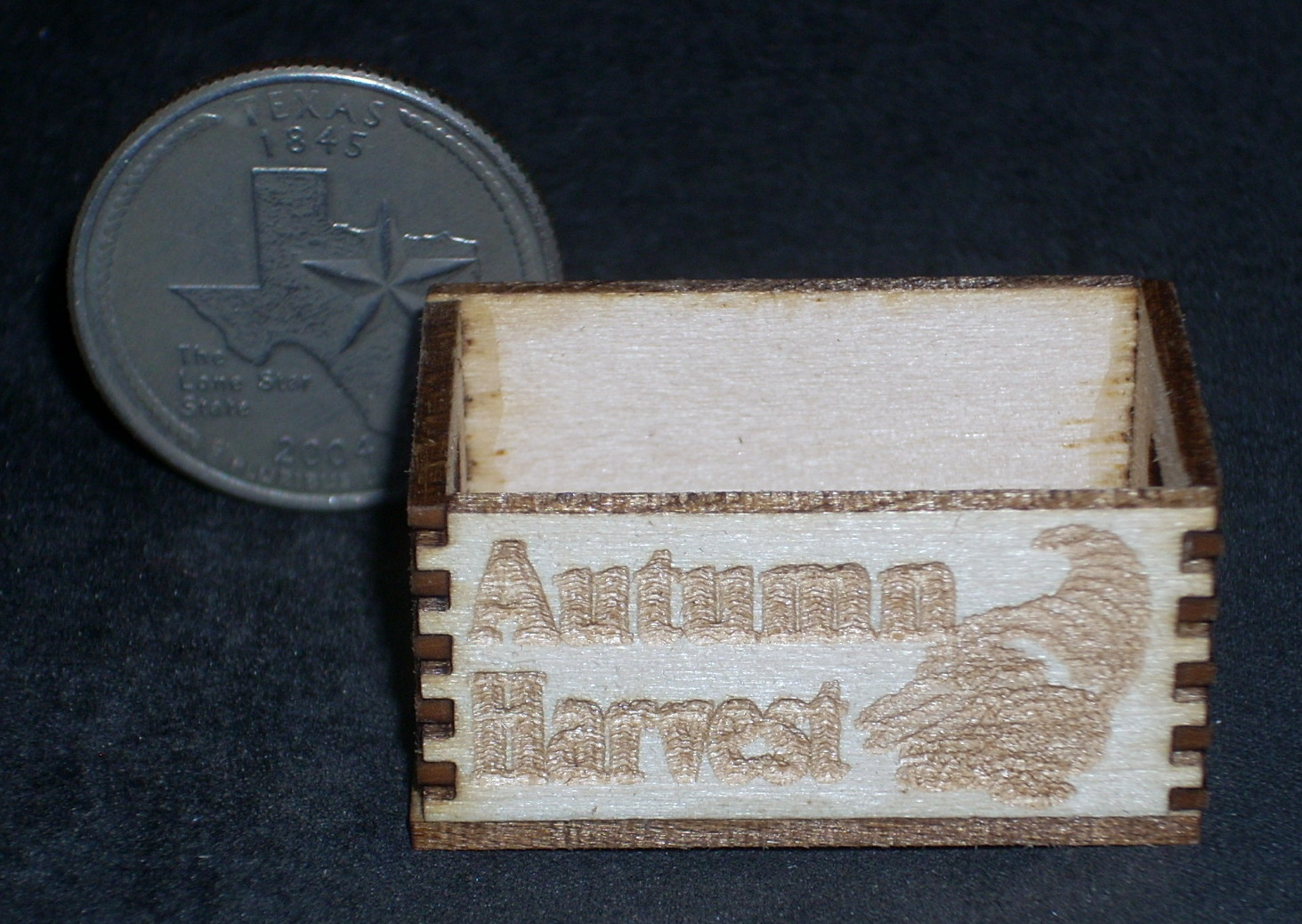 Autumn Harvest Produce Crate 1:12 Miniature Farm Store Holiday