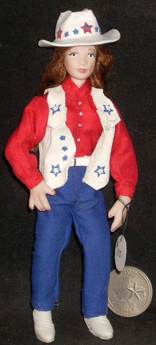 Doll - Cowgirl in Red, White & Blue #4082