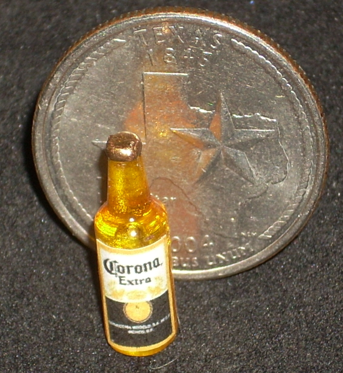 Corona Mexican Beer Gold Bottle 1:12 Dollhouse Miniatures