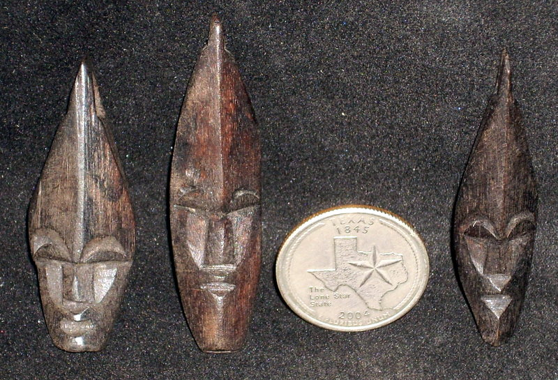 Mask, Indonesian Wooden ONE 1:12 Miniature Carved Decor Art