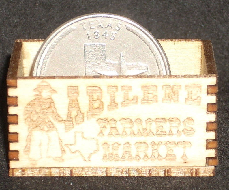 Abilene Farmers Market Produce Crate 1:12 Miniature Wood Farm