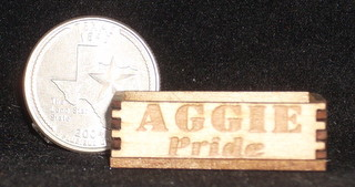 Aggie Pride Produce Crate 1:12 Miniature Wood Store Farm Market
