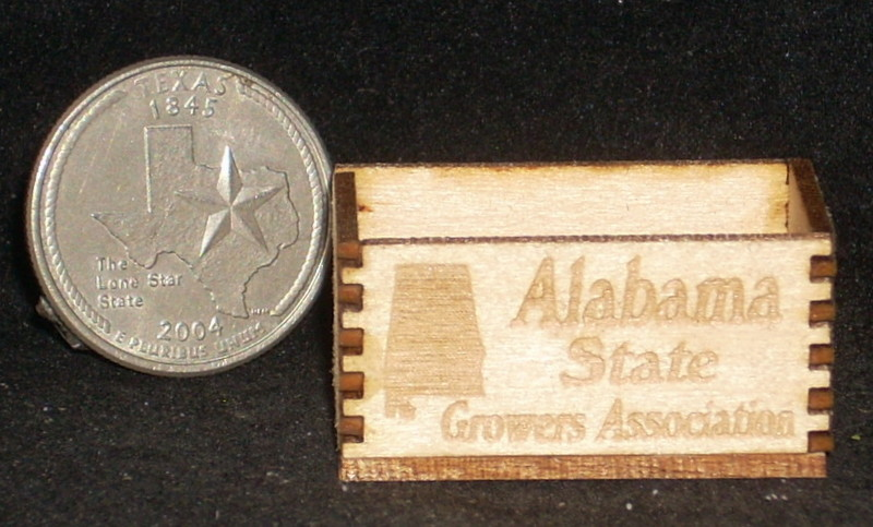 Alabama Crate 1:12 Dollhouse Miniature Produce Market Grocery