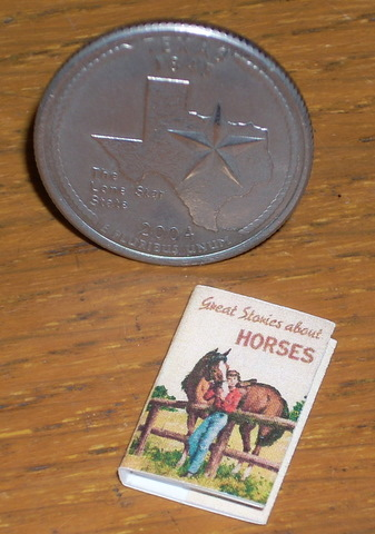 All About Horses Book #TIN2029 1:12 Miniature Library Horse