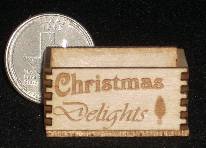 Christmas Delights Crate 1:12 Dollhouse Miniature Candy
