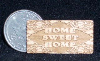 Dollhouse Miniatures Wall Decoration Home Sweet Home Picture Wood Sign 1:12
