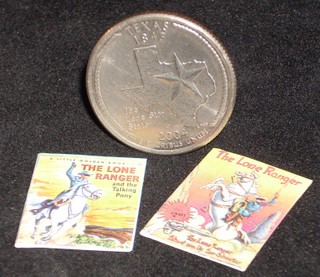 Children's Books (2) Lone Ranger 1:12 Miniature Book Children