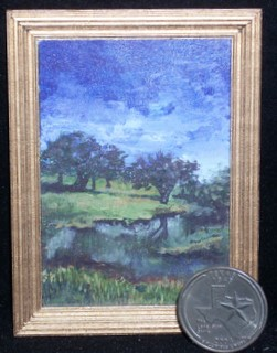 444 Game Preserve 1:12 Miniature Ltd. ed. Landscape Painting