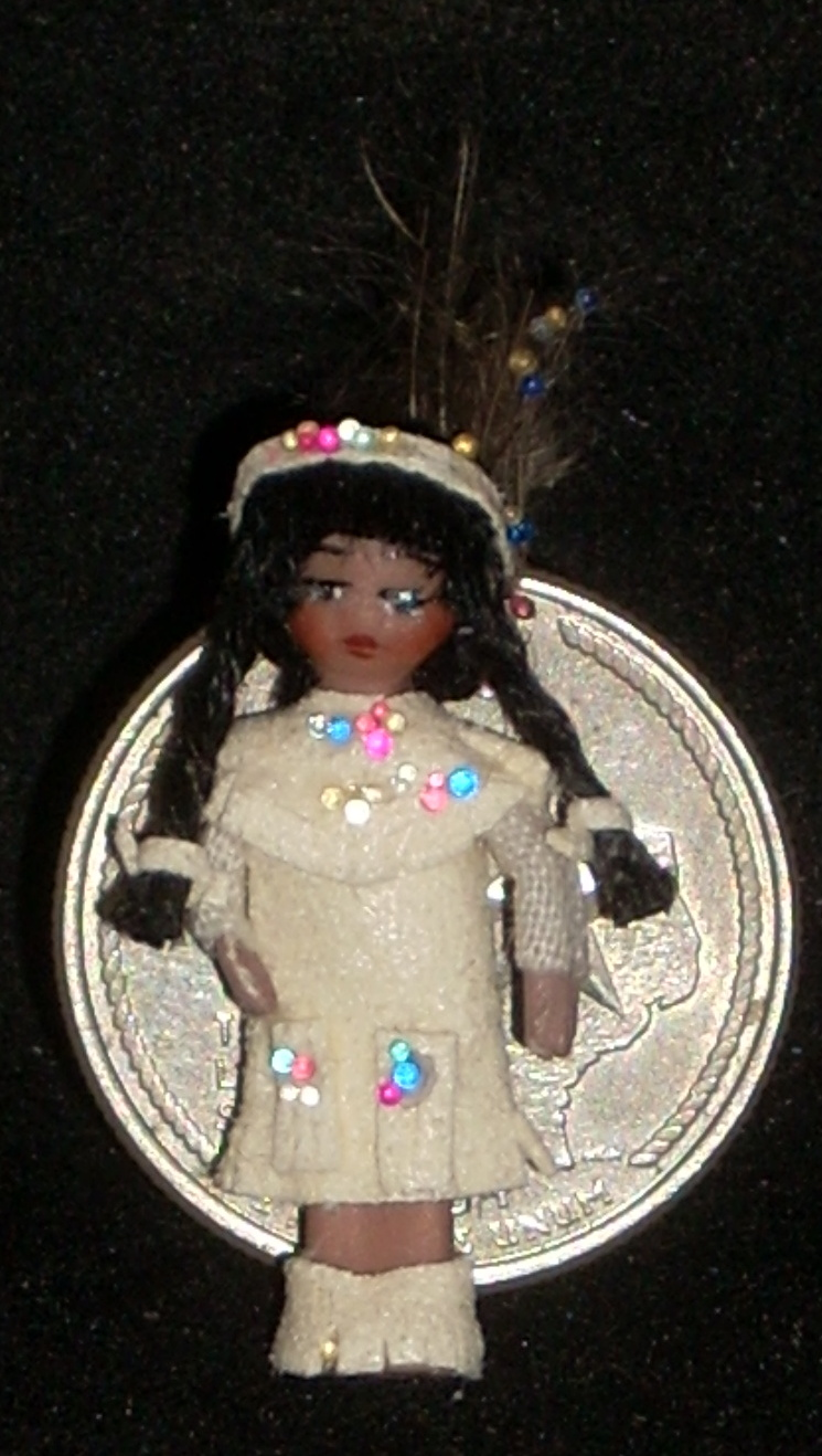 Doll Toy - Native American Indian #951 Wee Indian 1:12 Miniature